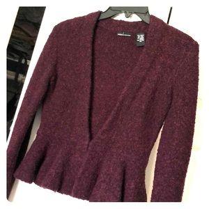Fun Peplum sweater blazer